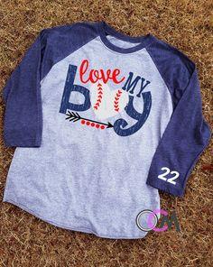 Love My Boy Baseball Shirt, Baseball Mom Shirt - Raglan #BaseballBoys