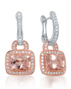 Roma+Morganite+&+Diamond+Drop+Earrings+by+Frederic+Sage+at+Neiman+Marcus.