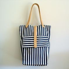 striped tokyo bag: bag by rib and hull on etsy