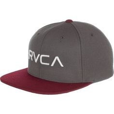 RVCA Twill III Snapback Hat ($26) ❤ liked on Polyvore featuring accessories, hats, snap back hats, rvca, twill hat, rvca snapback and logo hats