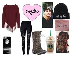 """""""Going To Starbucks With Calum"""" by analis-briseno on Polyvore featuring Boris, WithChic and SOREL"""