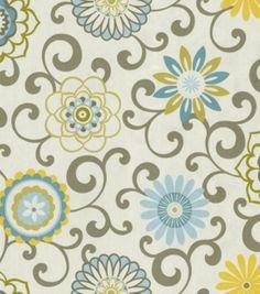 Home Decor Print Fabric-Waverly Pom Pom Play Spa, , hi-res