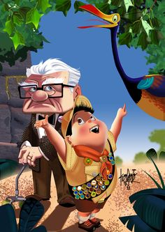 Look Mr. Fredricksen - Carl, Russell and Kevin - UP