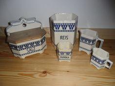 LUISE / Dekor Raute: Alte Küchenbehälter