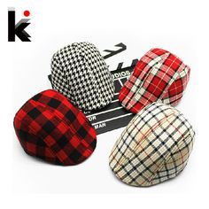 526363ffee1 Free shopping 2016 Spring and Autumn Kids Fashion Berets Plaid Hats For  Baby Boy And Girl Hat And Cap 15 Colors(China (Mainland))