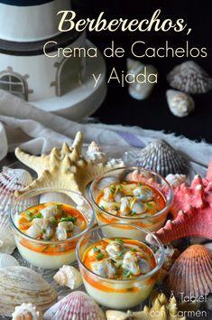 Berberechos, Crema de Cachelos y Ajada