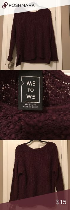 Me to We Burgundy/Purple-ish Sweater from Pacsun Never worn! PacSun Sweaters
