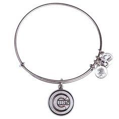 Chicago Cubs Alex and Ani Women's Bracelet - Silver - Fanatics.com