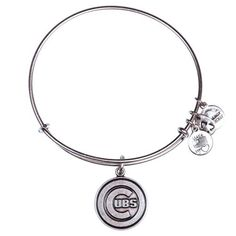 Chicago Cubs Alex and Ani Women's Bracelet - Silver - Fanatics.com