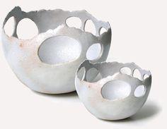 Sara Kirschen - pierced bowls