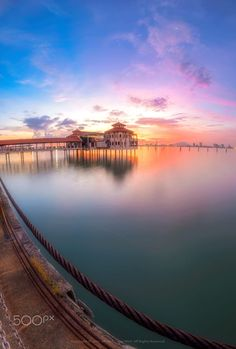 QEII The Waterfront Venue by Ah Wei (Lung Wei).....  #PenangFerry #Landscape #Sunrise #Penang #Malaysia #Seascape #GeorgeTown #Fisheye #PenangIsland #Shore