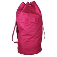Over-the-Shoulder Pink Laundry Bag - Dorm Room Laundry Essentials College Organizer