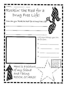 here is a fun red ribbon week activity to go with a pirate dress up theme this worksheet allows. Black Bedroom Furniture Sets. Home Design Ideas