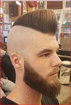 Modern Haircuts, Haircuts For Men, Hairstyles Haircuts, Cool Hairstyles, Psychobilly Hair, Flat Top Haircut, Shaving Your Head, Beard Look, Shaved Sides