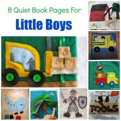 8 Quiet Book Pages For Little Boys