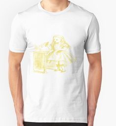 Alice from Alice's Adventures in Wonderland in Gold Tshirt