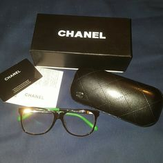 Authentic Chanel optical glasses style no. 3230 These are very cute glasses but my face is so small that they just don't fit right. Comes with everything pictured. Very stylish and sophisticated. There is a prescription lens in now but you could have the lenses replaced worth your own prescription or blanks if you just want to wear them as an accessory. Thanks for looking, ask questions and make offers! CHANEL Accessories Glasses