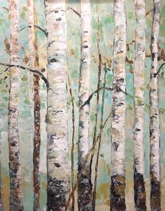 New painting In my shop: Birch Tree Painting Art Pallet Knife Birch Painting Aspen White Birch LARGE Birch Trees Painting, Birch Tree Art, White Birch Trees, Painting Art, Large Painting, Tree Paintings, Encaustic Painting, Oak Tree Tattoo, Feuille D'or