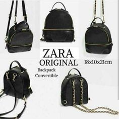 RESTOCK LAGIII Zara Convertible Leather Black Best seller  #zarabag
