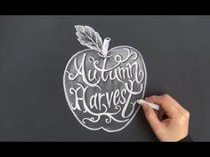 大人黒板!秋に身につけたいチョークアート(chalkart:chalklettering)