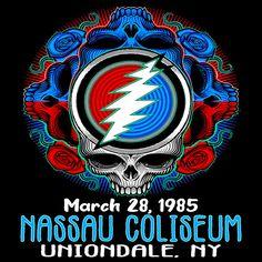 Nassau Coliseum, Cd Cover, Grateful Dead, Juventus Logo, Team Logo, Framed Prints, Movie Posters, Film Poster, Billboard