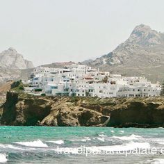 La Grotta now part of Naxos Town has been inhabited since the millennium BC. Its a village within a village with beautiful views especially from the Grotta Hotel. 3rd Millennium, Greek Islands, Ancient Greek, Paris Skyline, Greece, Water, Travel, Outdoor, Beautiful