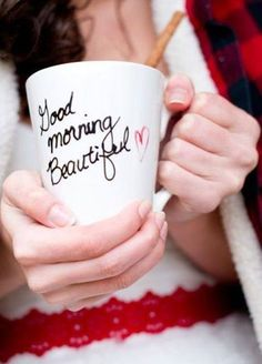 Write her a message on a mug: Buy a cheap mug, whipe down with rubbing alcohol (let air dry), write message with a sharpie, bake in the oven at 450 for 10 mins. Let cool. Done.