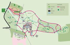Garden Map, the snowdrop walk at howick hall