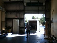 Mr. Happle in our urban garden warehouse.
