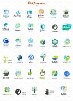 Alternative medicine, zen logos by Marish on @creativemarket