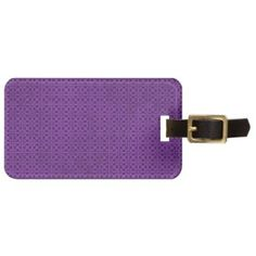 Purple Quilt Squares Pattern Tags For Luggage