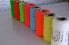 Bright Neon Collection  Embroidery yarn   Supplies by Nivriks