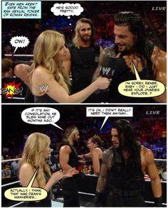 The power of Roman Reigns.. #wweshield #mancrushes pic.twitter.com/9HJUaxM6ed - Credit Jen J