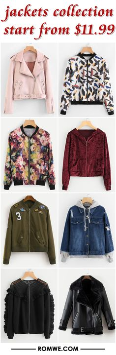 jackets collection from $11.99 - romwe.com