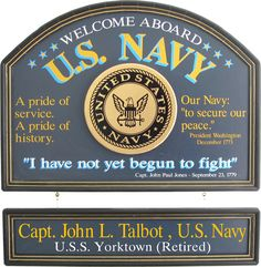 Northwest Gifts - U.S. Navy Sign Personalized, $99.95 (http://northwestgifts.com/u-s-navy-sign-personalized/)