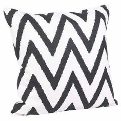 Add a retro feel to your master bed or sofa with this 100% cotton cushion featuring a zig-zag print. Scatter several to create a cosy place to relax, or display alone for an attractive feature.   Product: CushionConstruction Material: 100% CottonColour: Black and ivoryFeatures: Ikat patternInsert includedDimensions: 45 cm x 45 cm Cleaning and Care: Professional cleaning only