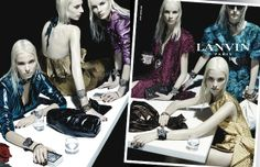 Are the Models Talking About Food, Sex or Clothes in Lanvin's Spring 2014 Campaign?  Or perhaps their white blonde by Victoria Hunter?  #WhittemoreIs