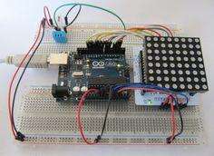 sensor de humidade e ArduinoUNO e 8x8 RGB módulo de matriz de LED