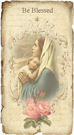 Be Blessed Art Artwork Painting Mother and Child Europe European Travel Catholic…