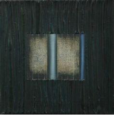 Gabriela Aberastury. Titulo: Tu ventana. 2000 Técnica mixta sobre lienzo 40 x 40 cm.