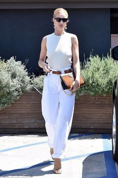 e460bc7682 Rosie Huntington-Whiteley Los Angeles She wore Jean Atelier Cinch Trouser  Jeans