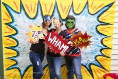 Superhero Birthday Party - Photobooth props