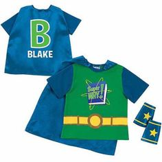 Personalized Super Why! Logo and Letter Toddler Boy Green Super Tee and Cuff Set, Size: 3 Years