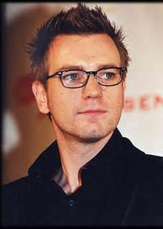 with glasses.