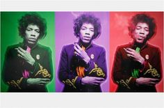 Classic Pics @ClassicPixs   Jimi Hendrix Triptych, 1967. Photograph by Gered Mankowitz.