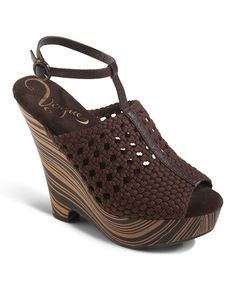 Take a look at this Brown Dirty Martini Wedge by Vogue Footwear on #zulily today!