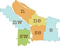 Portland Oregon Neighborhood Map   Neighborhood Notes