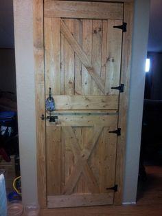 Diy dutch barn door for a pantry