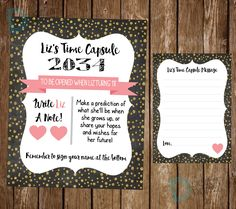 Time Capsule First Birthday - Time Capsule Birthday - Time Capsule Print - Boys Time Capsule - Girls Time Capsule *** Digital File Only *** by DigitalArtDesignsByB on Etsy