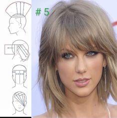 Hair Cutting Videos, Hair Cutting Techniques, Hair Color Techniques, Simply Hairstyles, Bob Hairstyles, Medium Hair Styles, Short Hair Styles, Diy Haircut, Corte Bob